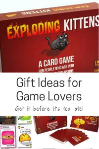 gift ideas for game lovers family exploding kittens